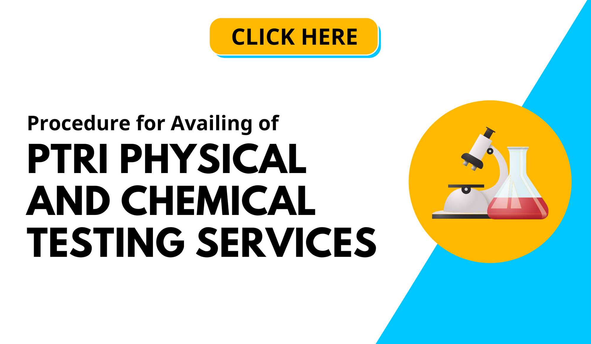 Procedure for availing of PTRI TESTING SERVICES CHEMICAL AND PHYSICAL TESTING LABORATORY